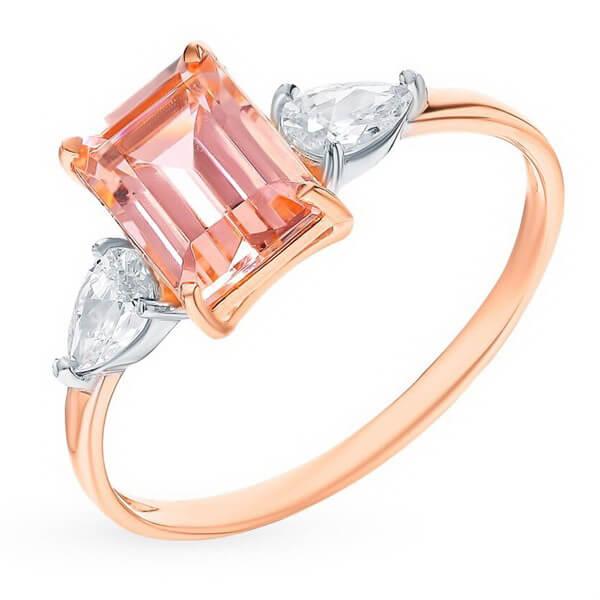 Nhẫn vàng 14K đính đá Morganite (V0060)