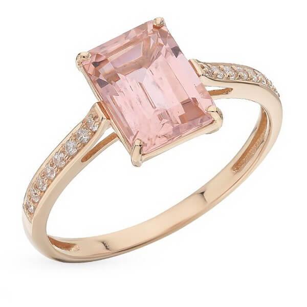 Nhẫn vàng 14K đính đá Morganite (V0061)